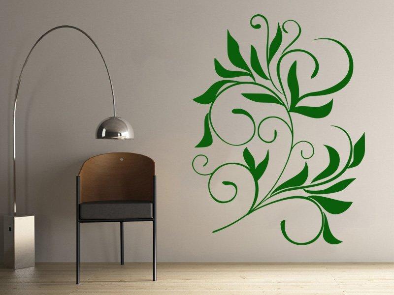 Samolepky na zeď Ornamenty z rostlin 008 - Samolepící dekorace a nálepka na stěnu