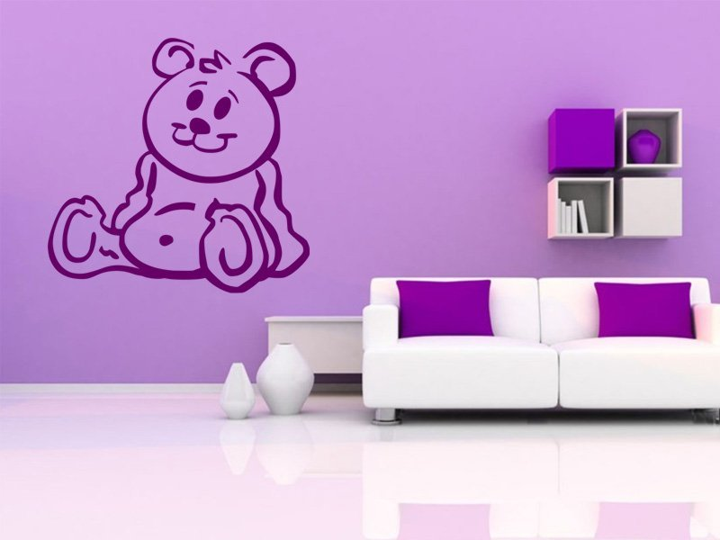 Samolepky na zeď Méďa 001 - Samolepící dekorace a nálepka na stěnu