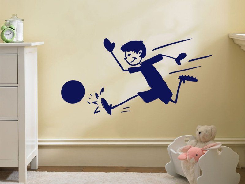 Samolepky na zeď Fotbalista 014 - Samolepící dekorace a nálepka na stěnu