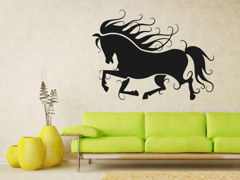 Samolepky na zeď Kůň 013 - Samolepící dekorace a nálepka na stěnu