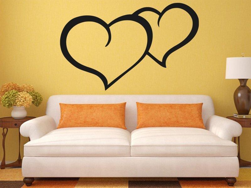 Samolepky na zeď Srdce 0254 - Samolepící dekorace a nálepka na stěnu