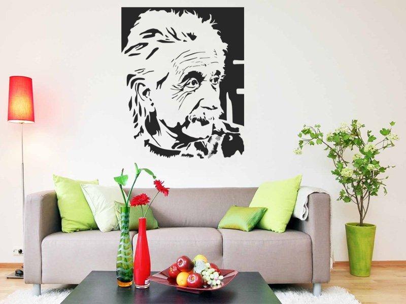 Samolepky na zeď Albert Einstein 001 - Samolepící dekorace a nálepka na stěnu