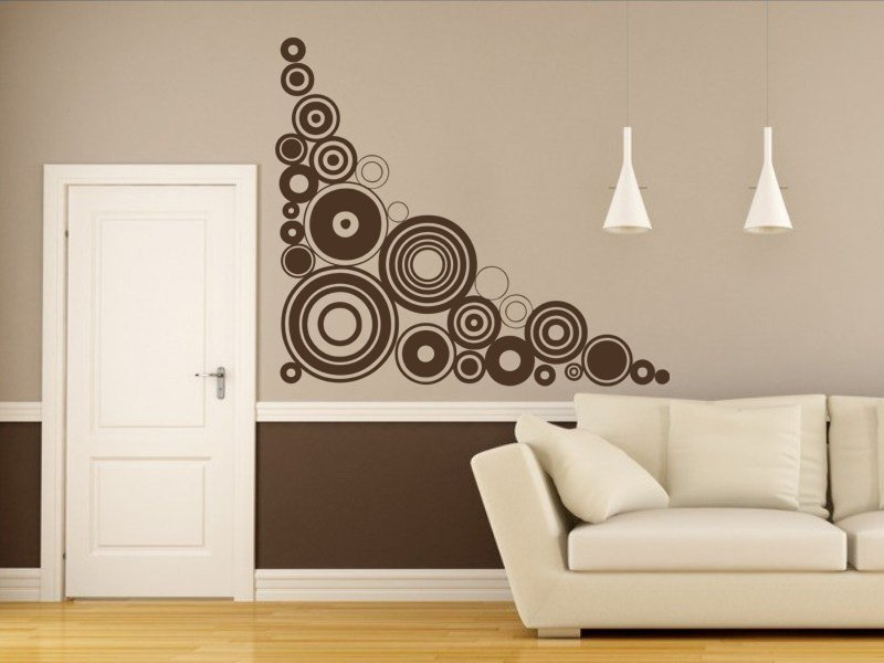 Samolepky na zeď Kruhy 008 - Samolepící dekorace a nálepka na stěnu