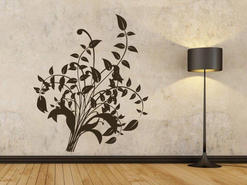 Samolepky na zeď Ornamenty z rostlin 014 - Samolepící dekorace a nálepka na stěnu