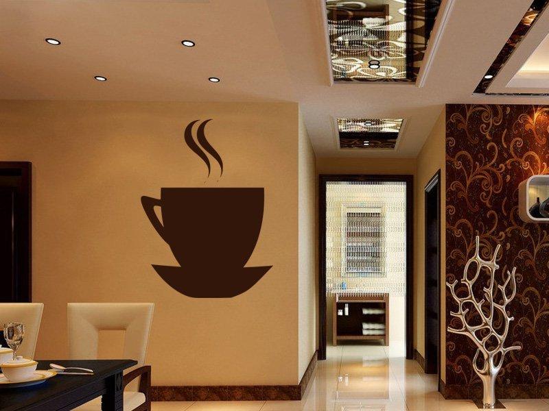Samolepky na zeď Hrnek kávy 0046 - Samolepící dekorace a nálepka na stěnu