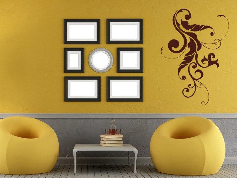 Samolepky na zeď Rostlina 002 - Samolepící dekorace a nálepka na stěnu