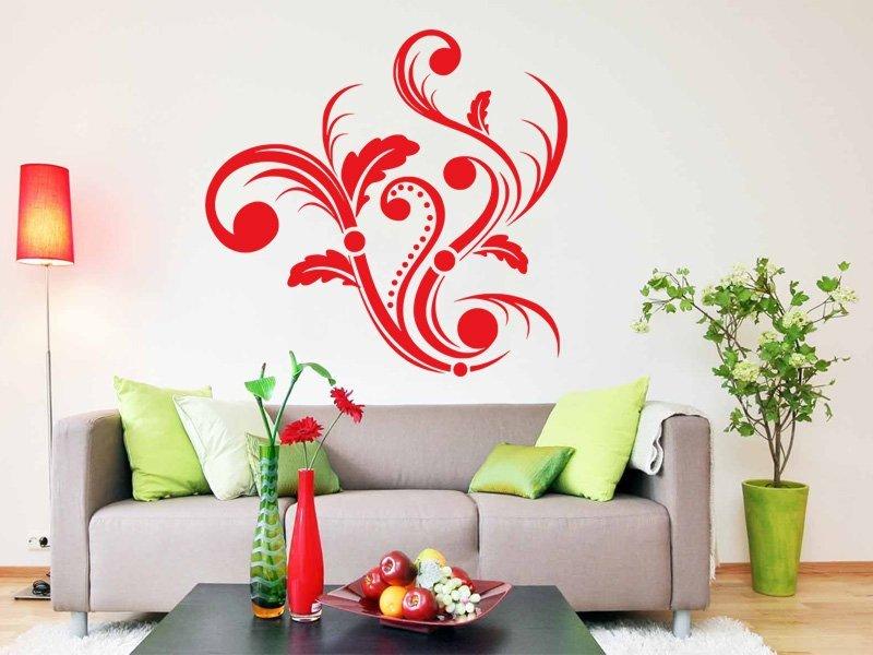 Samolepky na zeď Ornamenty z rostlin 004