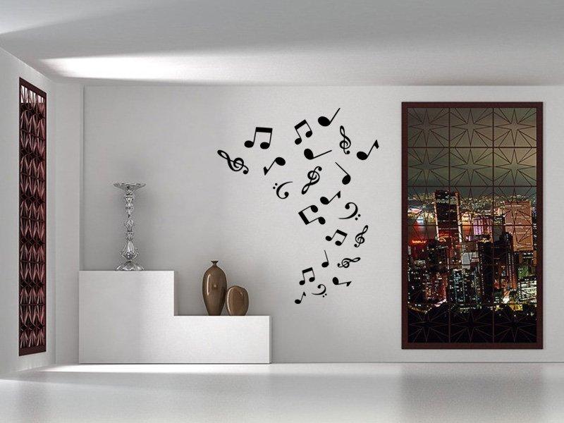 Samolepky na zeď Noty 007 - Samolepící dekorace a nálepka na stěnu