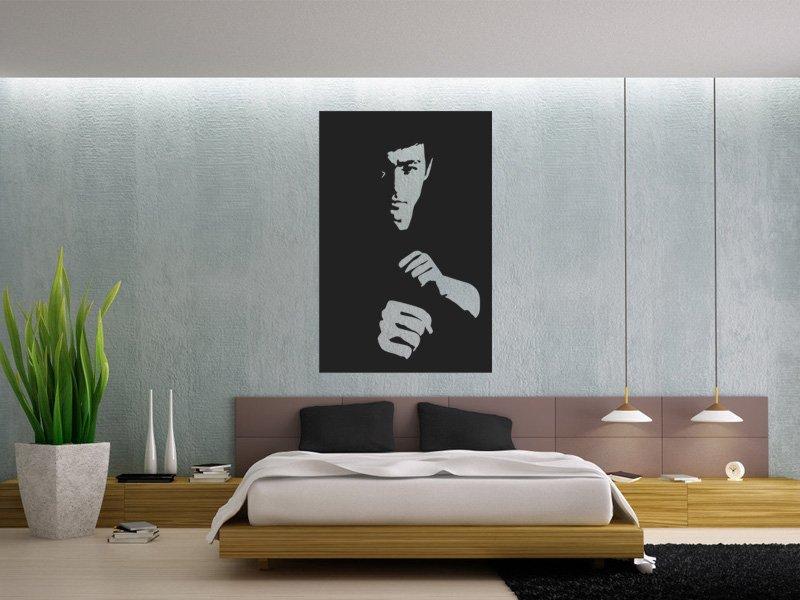 Samolepky na zeď Bruce Lee 001 - Samolepící dekorace a nálepka na stěnu