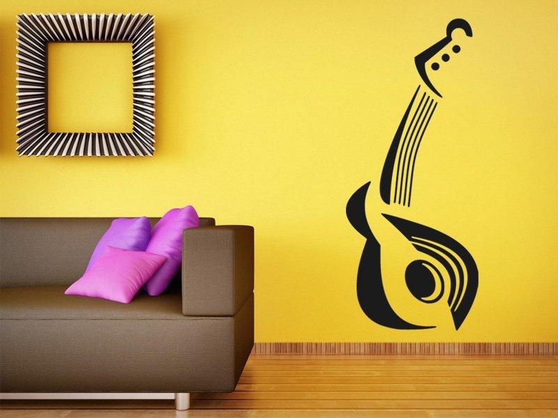 Samolepky na zeď Kytara 009 - Samolepící dekorace a nálepka na stěnu