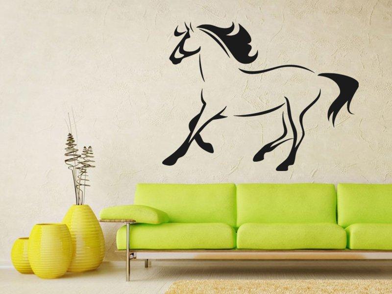 Samolepky na zeď Kůň 025 - Samolepící dekorace a nálepka na stěnu