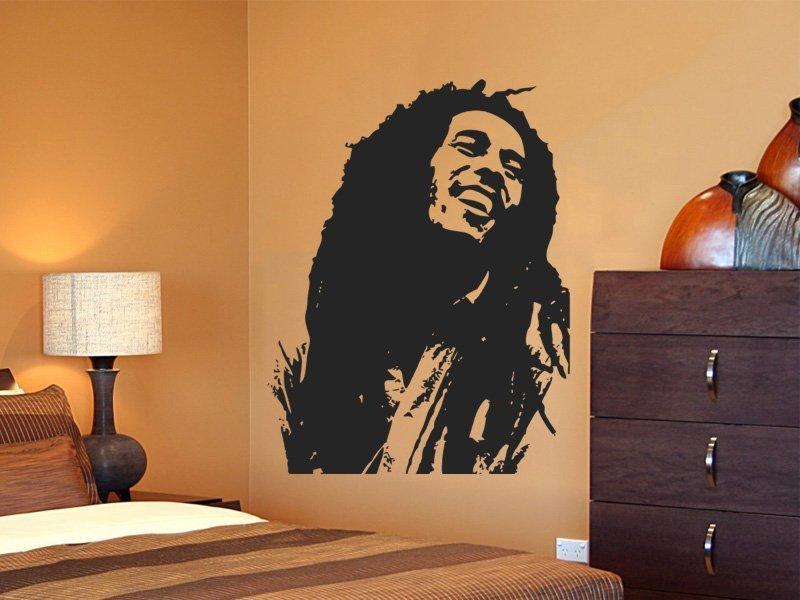 Samolepky na zeď Bob Marley 001 - Samolepící dekorace a nálepka na stěnu