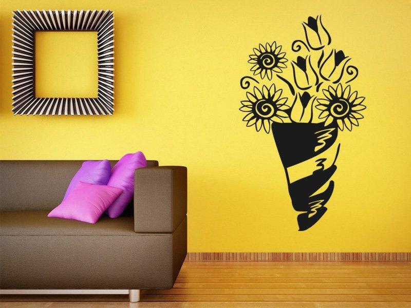 Samolepky na zeď Kytice 0277 - Samolepící dekorace a nálepka na stěnu