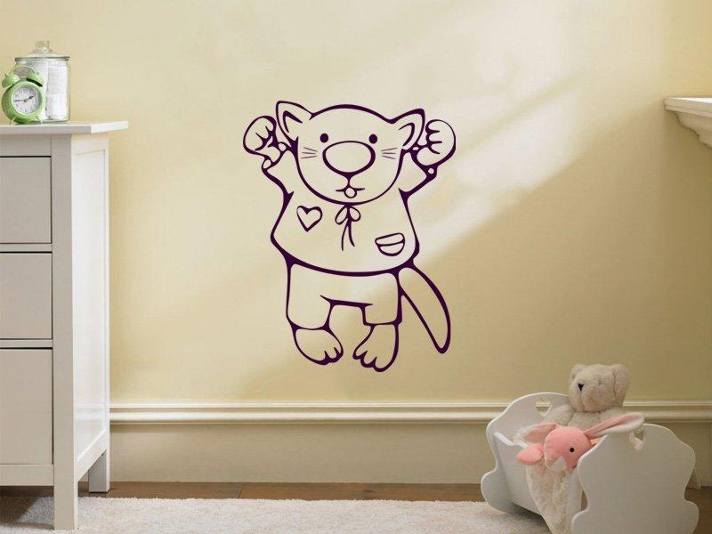 Samolepky na zeď Kočička 001 - Samolepící dekorace a nálepka na stěnu
