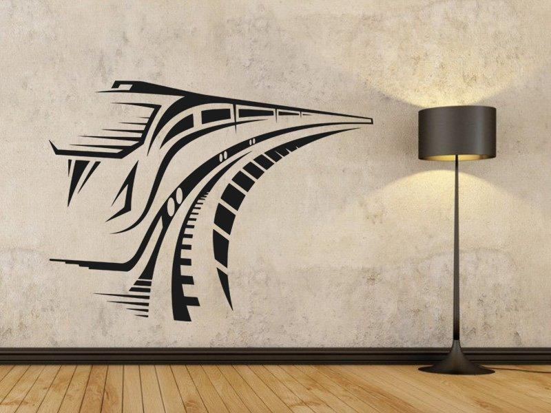 Samolepky na zeď Vlak 001 - Samolepící dekorace a nálepka na stěnu