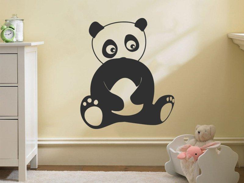 Samolepky na zeď Panda 005 - Samolepící dekorace a nálepka na stěnu