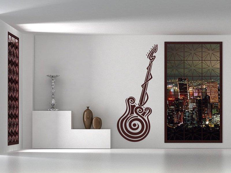 Samolepky na zeď Kytara 001 - Samolepící dekorace a nálepka na stěnu