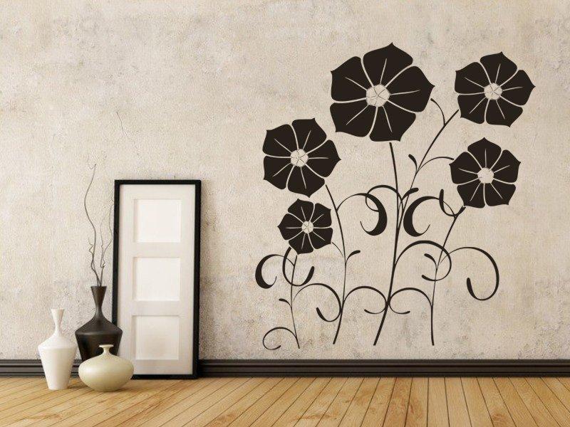 Samolepky na zeď Květiny 001 - Samolepící dekorace a nálepka na stěnu