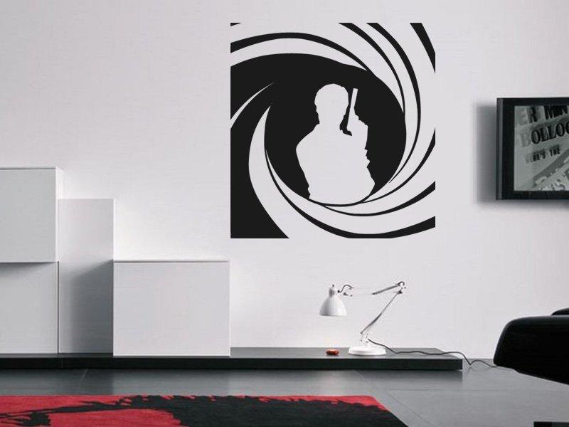 Samolepky na zeď James Bond 002 - Samolepící dekorace a nálepka na stěnu
