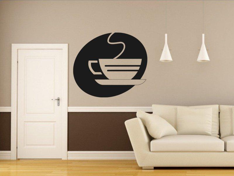 Samolepky na zeď Hrnek kávy 0054 - Samolepící dekorace a nálepka na stěnu