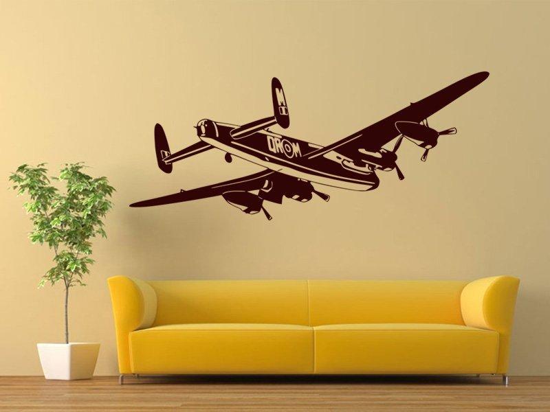 Samolepky na zeď Letadlo 015 - Samolepící dekorace a nálepka na stěnu