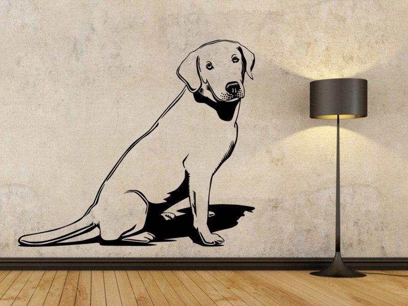 Samolepky na zeď Labrador 003 - Samolepící dekorace a nálepka na stěnu