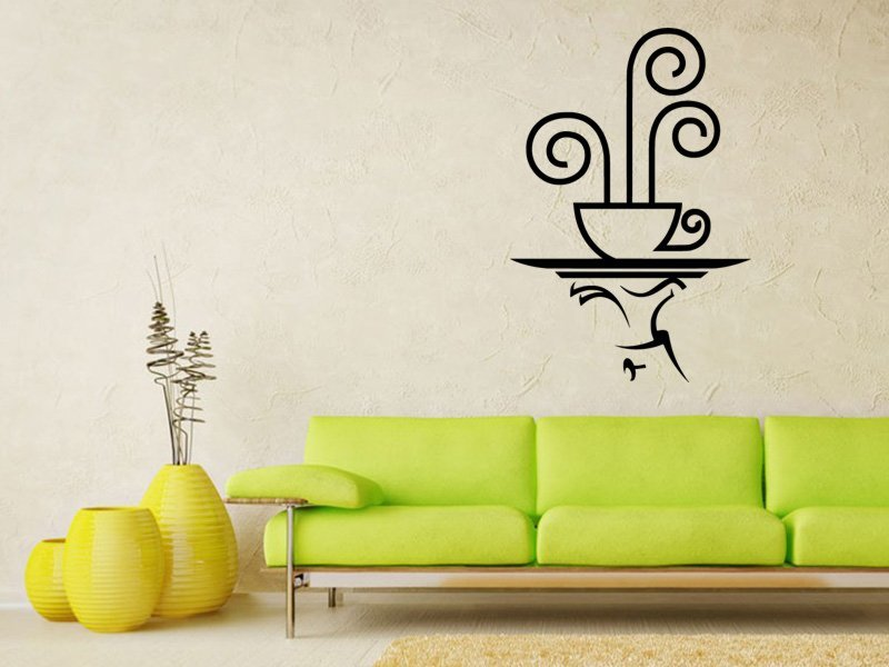 Samolepky na zeď Servírování 0165 - Samolepící dekorace a nálepka na stěnu