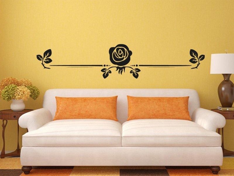 Samolepky na zeď Růže 0187 - Samolepící dekorace a nálepka na stěnu