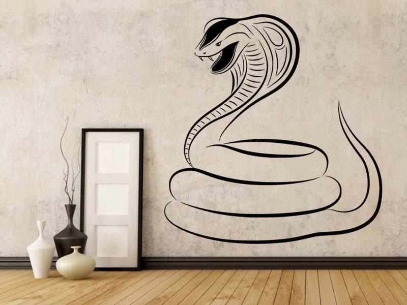Samolepky na zeď Kobra 001 - Samolepící dekorace a nálepka na stěnu