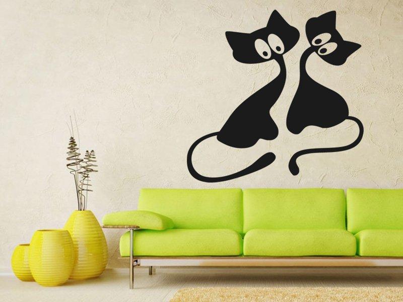 Samolepky na zeď Kočička 009 - Samolepící dekorace a nálepka na stěnu