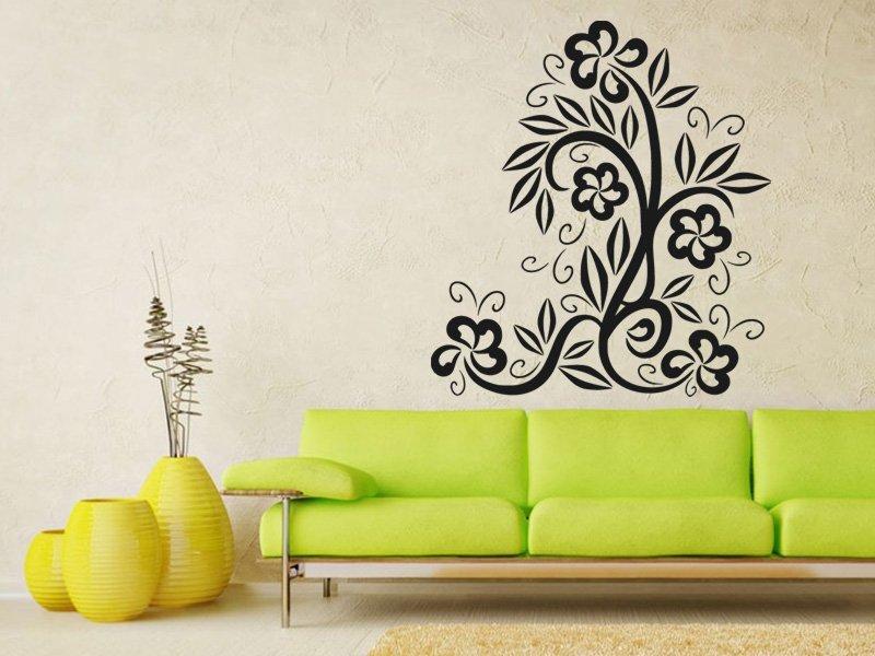 Samolepky na zeď Květiny 034 - Samolepící dekorace a nálepka na stěnu