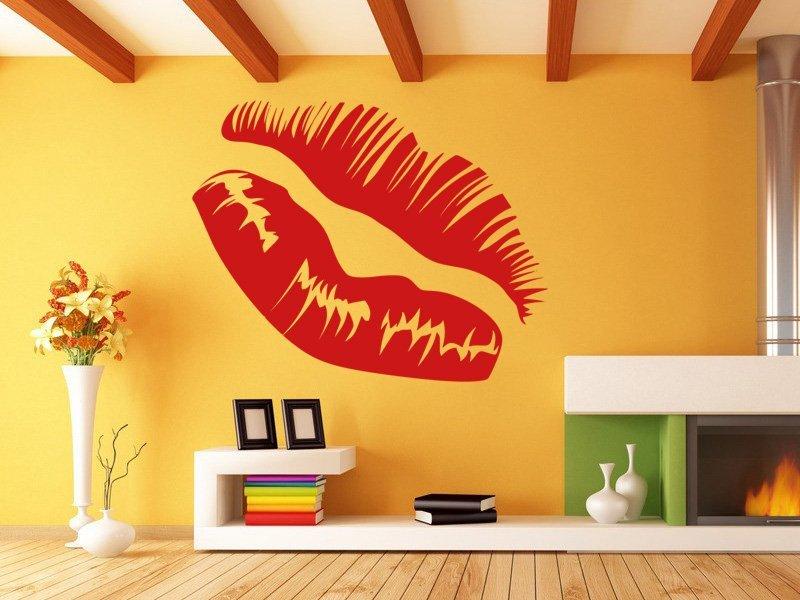 Samolepky na zeď Rty 0308 - Samolepící dekorace a nálepka na stěnu