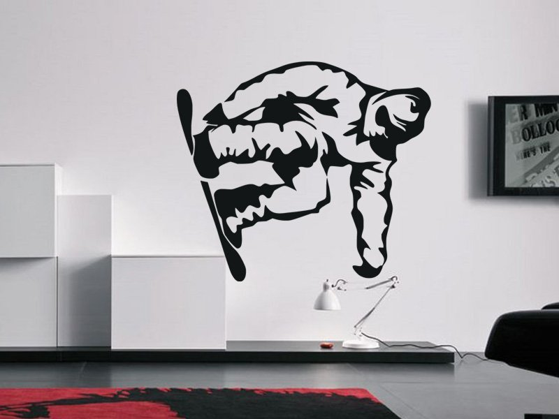 Samolepky na zeď Snowboardista 0966 - Samolepící dekorace a nálepka na stěnu