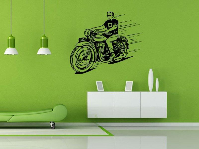 Samolepky na zeď Motorka 021 - Samolepící dekorace a nálepka na stěnu