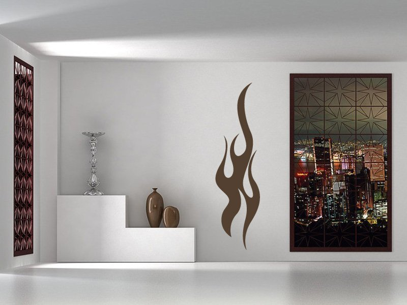 Samolepky na zeď Plameny 008 - Samolepící dekorace a nálepka na stěnu
