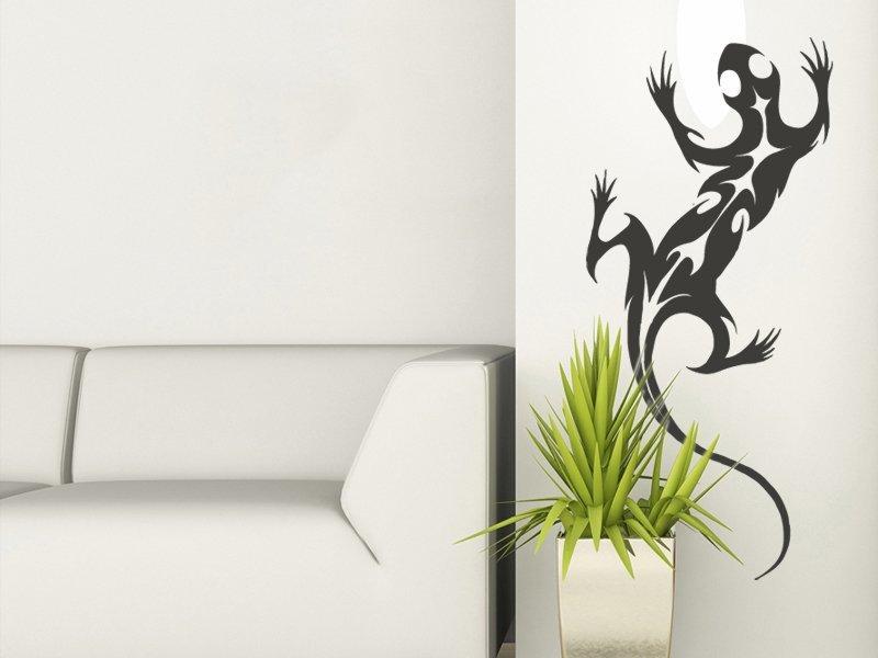 Samolepky na zeď Ještěrka 004 - Samolepící dekorace a nálepka na stěnu