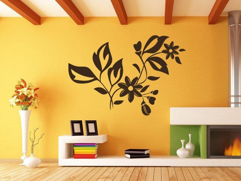 Samolepky na zeď Ornamenty z rostlin 037 - Samolepící dekorace a nálepka na stěnu