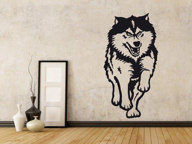 Samolepky na zeď Husky 001 - Samolepící dekorace a nálepka na stěnu