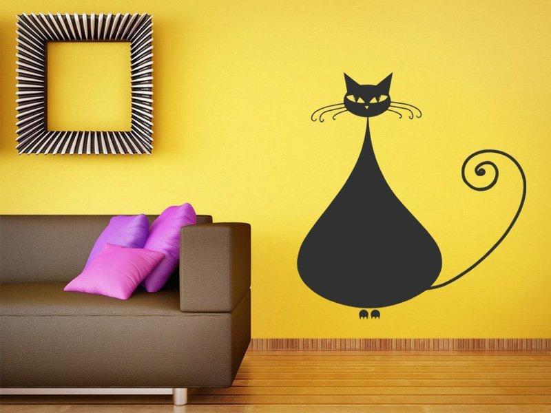 Samolepky na zeď Kočka 008 - Samolepící dekorace a nálepka na stěnu