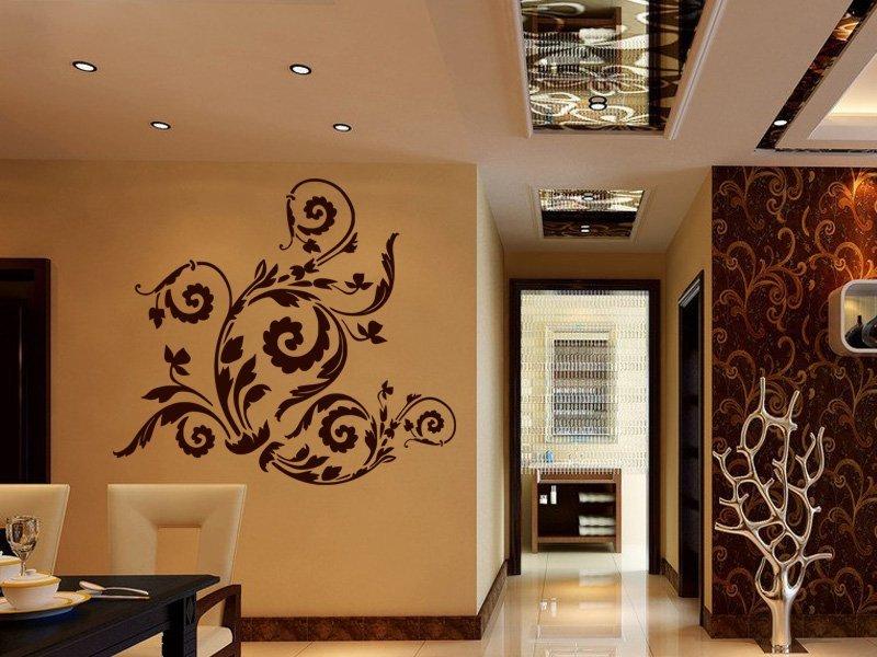 Samolepky na zeď Ornamenty z rostlin 010 - Samolepící dekorace a nálepka na stěnu