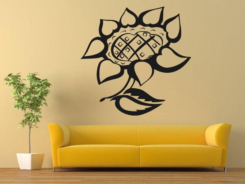 Samolepky na zeď Květiny 018 - Samolepící dekorace a nálepka na stěnu