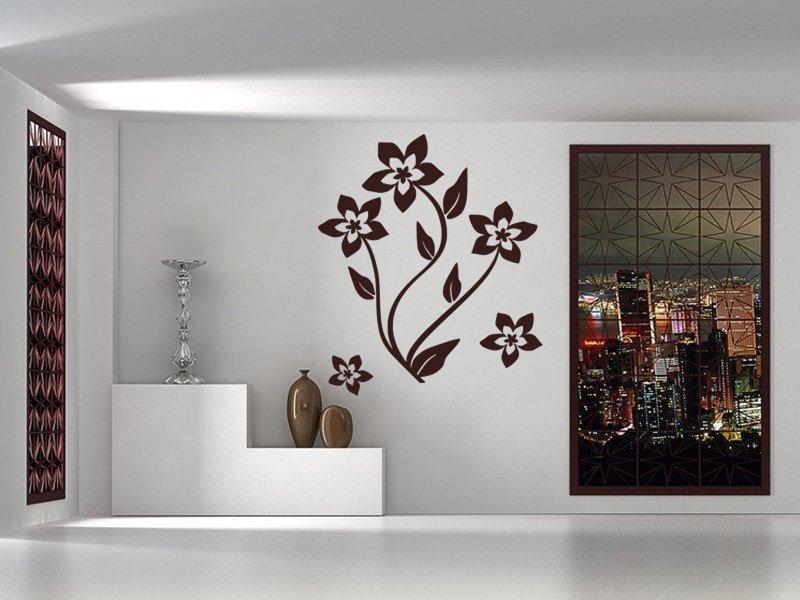 Samolepky na zeď Květiny 019 - Samolepící dekorace a nálepka na stěnu