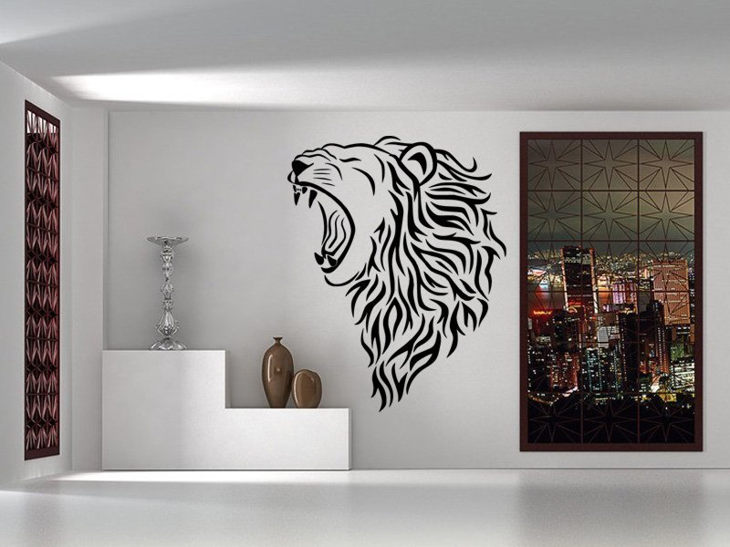 Samolepky na zeď Lev 007 - Samolepící dekorace a nálepka na stěnu