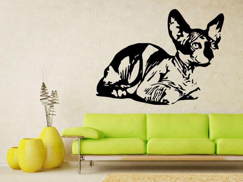 Samolepky na zeď Kočka 0452 - Samolepící dekorace a nálepka na stěnu
