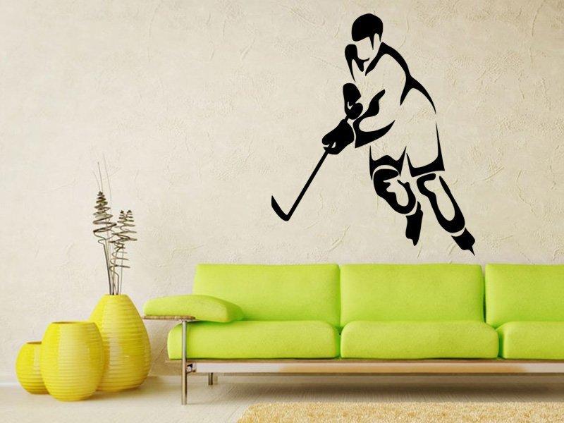 Samolepky na zeď Hokejista 0594 - Samolepící dekorace a nálepka na stěnu