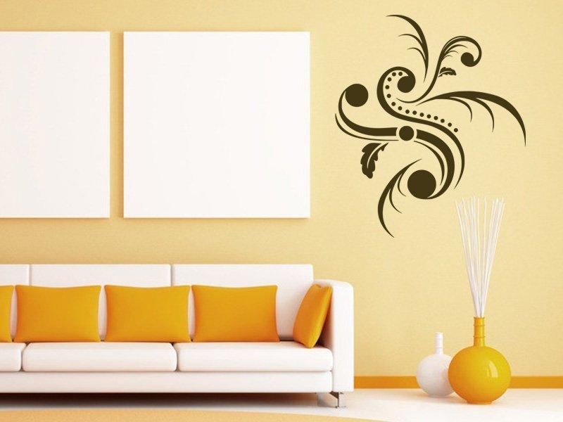 Samolepky na zeď Ornamenty z rostlin 007 - Samolepící dekorace a nálepka na stěnu