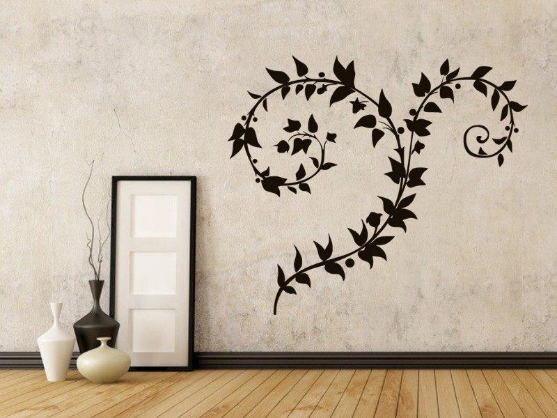 Samolepky na zeď Ornamenty z rostlin 038 - Samolepící dekorace a nálepka na stěnu