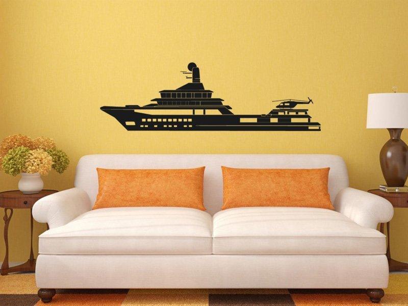 Samolepky na zeď Loď 009 - Samolepící dekorace a nálepka na stěnu