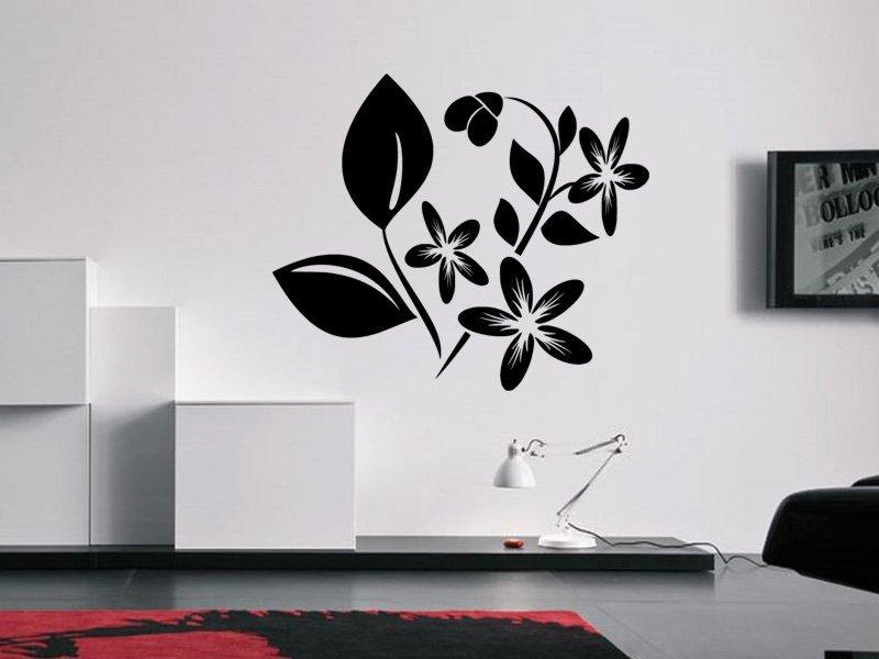Samolepky na zeď Květiny 027 - Samolepící dekorace a nálepka na stěnu