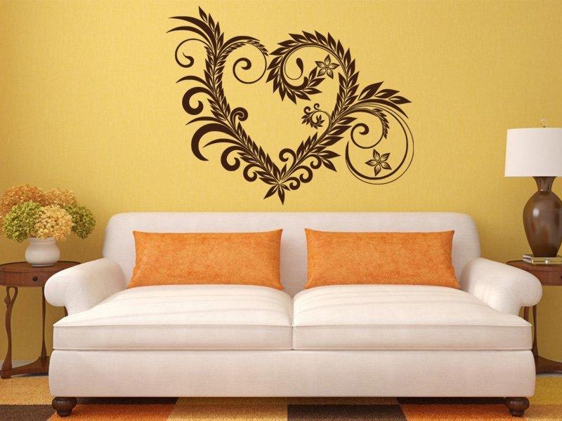 Samolepky na zeď Srdce 004 - Samolepící dekorace a nálepka na stěnu